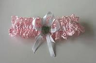 Подвязка невесты Розовая кружево