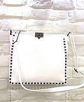 Женская сумка кожаная белая большая вместительная  Leather country Италия