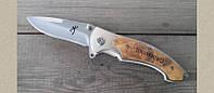 Нож складной походный Browning 337, компактный, фото 1