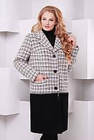 Пальто-трансформер больших размеров Берн саржа