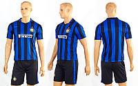 Форма футбольная детская CO-3900-INM-1 INTER MILAN домашняя (PL, р-р S-XL, синий-черный)