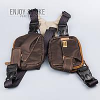 Тканевая сумка Vbag плащевка - коричневая