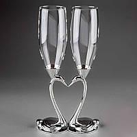 Свадебные бокалы на металлической ножке Y-003GT