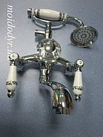 Смеситель для ванны Omoikiri СS 1004 с керамической ручкой(хром)