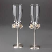 Свадебные бокалы на металлической ножке Y-021G