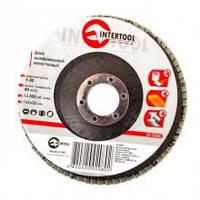 Круг Пелюстковий Торцевій Internool 125мм * 22,23 мм * Р150, фото 1