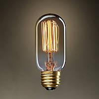 Лампа Эдисона, ретро лампа, винтажная лампа капсула, вертикальная нить, модель T45