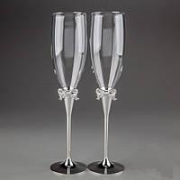 Свадебные бокалы на металлической ножке Y-017GT