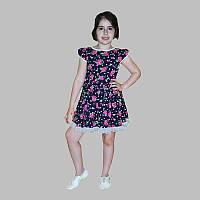 Летнее платье на девочку на рост 116-122 см