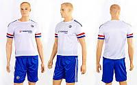 Форма футбольная детская CO-3900-CH-3 CHELSEA гостевая (PL, р-р S-XL, белый-синий)