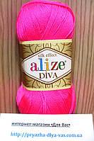 Летняя акриловая пряжа (100% микрофибра акрил, 100г/350м) Alize Diva 561