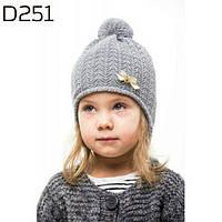 Нежная детская шапка для девочки с бантиком 251