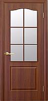 Межкомнатная дверь Фортис ПВХ 90( Класик B-G)  полуостекленная без рисунка