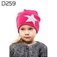 Весенняя шапка для девочки 259 в расцветках