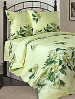 Постельное белье в цветы на зеленом фоне бязь двуспальное
