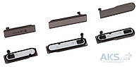Aksline Комплект боковых заглушек Sony D5503 Xperia Z1 Compact Mini Black