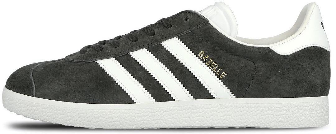 Мужские кроссовки Adidas Gazelle Dark Grey/White S74846, Адидас Газели
