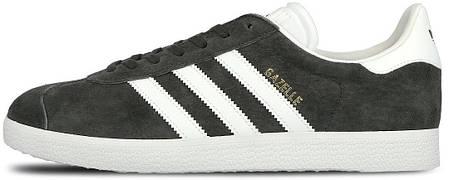 Мужские кроссовки Adidas Gazelle Dark Grey/White S74846, Адидас Газели, фото 2