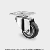 Аппаратные колеса серая резина, под площадку. Не оставляют следов