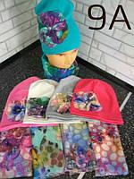 Подростковая детская шапка для девочки Цветок 1276