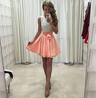 Вечернее комбинированное платье с гипюром
