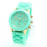 Женские часы Geneva (мятные)