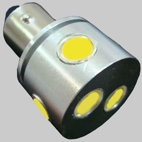 Светодиодная автомобильная лампа с цоколем 1156-6W-24V Белый