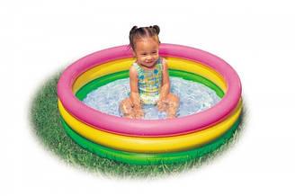 """Детский надувной бассейн """"Рассвет"""" надувное дно 61*22см Intex 57107"""