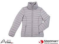 Куртка женская стеганая с капюшоном утепленная Stedman (одежда рабочая утепленная) SST5300 LGY