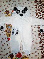 Панда Комбинезон  для новорожденного человечек для мальчика Малыша девочки