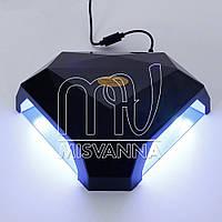 Профессиональная многофункциональная УФ лампа LED DORAME S2 (на две руки) 60 Вт с сенсорами (black)