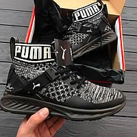 Мужские кроссовки Puma Ignite EvoKnit Black. Живое фото! Топ качество! (пума)
