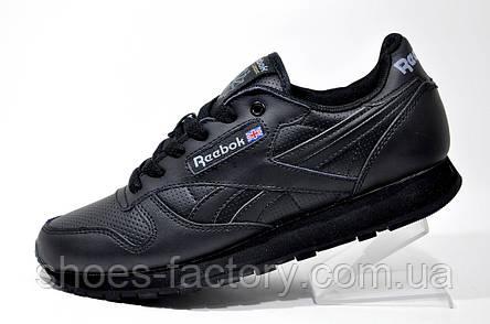 Кроссовки мужские в стиле Reebok Classic Leather, Black, фото 2
