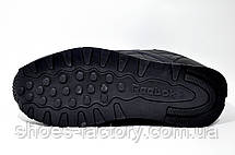 Кроссовки мужские в стиле Reebok Classic Leather, Black, фото 3