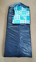 Спальний мішок синій з капюшоном Літо