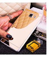 Силиконовый золотистый чехол зеркало для Samsung Galaxy A310 (2016)