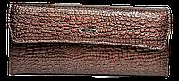 Женский кошелек под кожу крокодила коричневого цвета BXX-090015