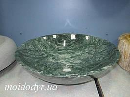 Умывальник из мрамора круглый 420 мм (малахит)