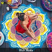 Пляжный коврик Мандала ( разные расцветки)