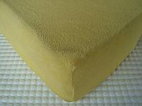 Простині-наматрацники махрові з гумкою жовтий 1858e5acc3888