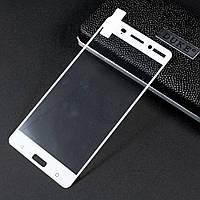 Защитное стекло Calans 2.5D 9H на весь экран для Nokia 6 белый
