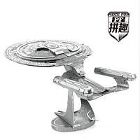 """Металлический 3D конструктор из серии """"STAR TREK""""  ENTERPRISE"""