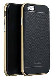 TPU Силикон iPaky TPU+PC для Apple iPhone 6 / 6S Black / Gold (черный / золотой)