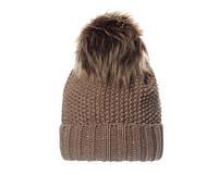 Трендовая зимняя шапка с меховым помпоном от VEILO
