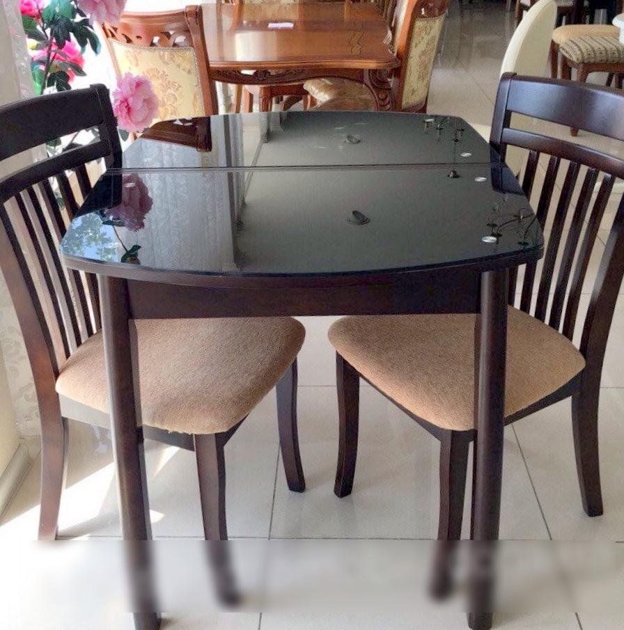 Стол обеденный стеклянный WT35 , Exm цвет шоколад