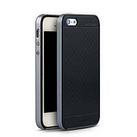 TPU Силикон iPaky TPU+PC для Apple iPhone 5 / 5S / SE Black / Gray (черный / серый)