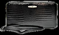 Женский кошелек-портмоне на змейке черного цвета BXW-090050