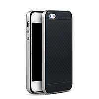 TPU Силикон iPaky TPU+PC для Apple iPhone 5 / 5S / SE Black / Silver (черный / серебрянный)
