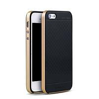 TPU Силикон iPaky TPU+PC для Apple iPhone 5 / 5S / SE Black / Gold (черный / золотой)