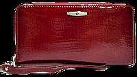 Женский кошелек-портмоне на змейке красного цвета BXW-090055